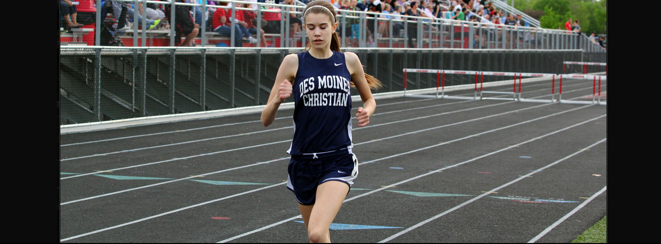 Des Moines Christian School Girls Track and Field Runner
